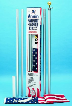 Annin patriot aluminum flagpole kit w flag for 3 flag pole etiquette